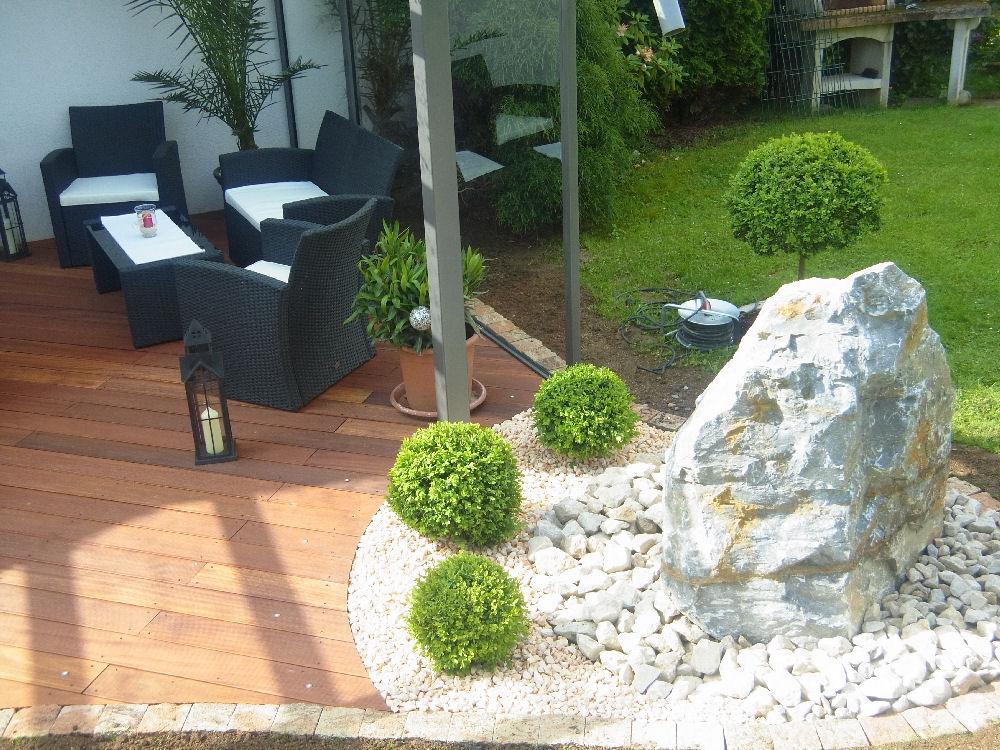 Terrasse aus bankiraiholz garten und - Bodenbeleuchtung terrasse ...